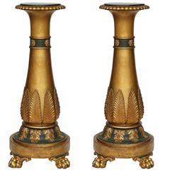 Pair of Italian 19th Century Neoclassical St. Giltwood Pedestals