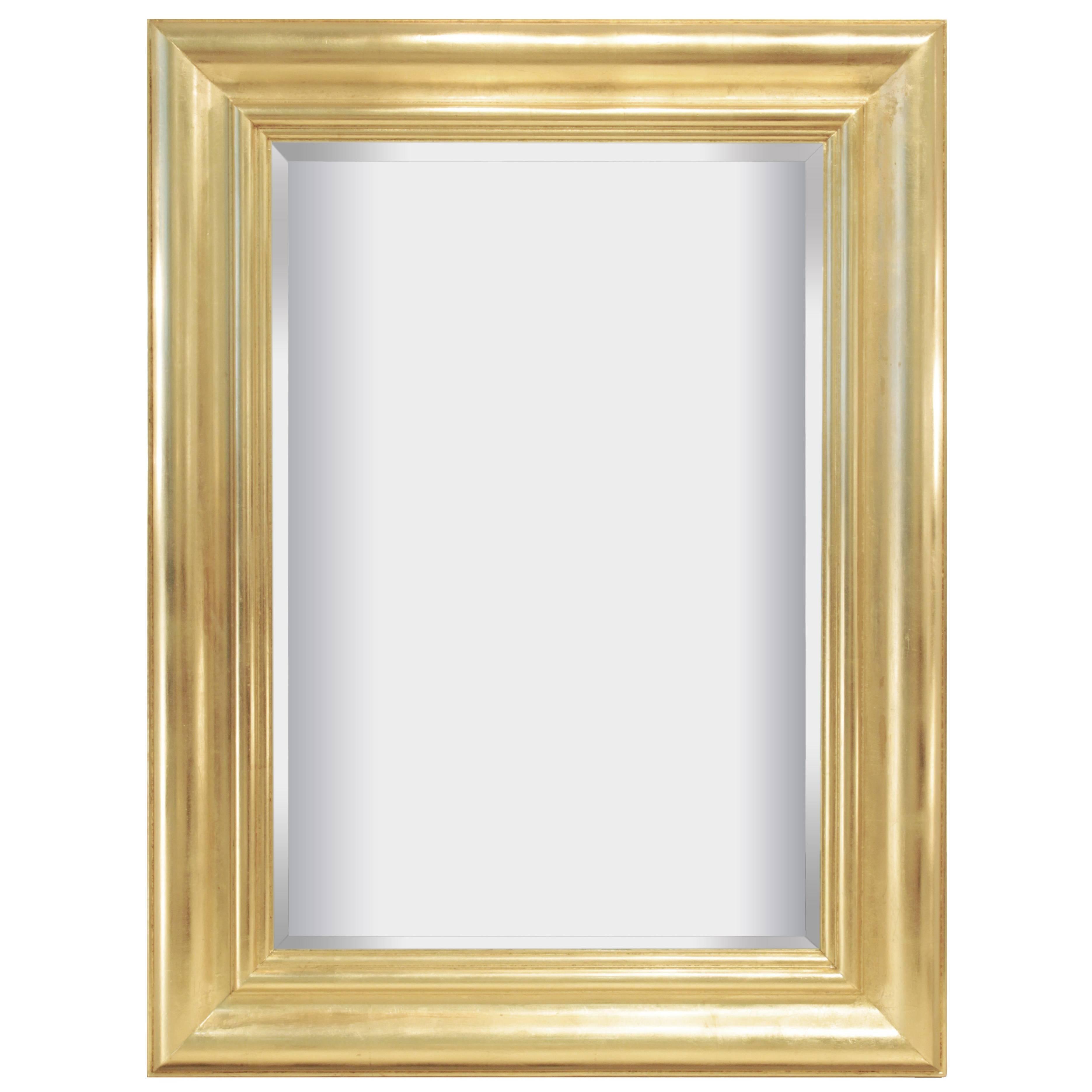 Karl Springer Large Gold Leaf Mirror 1980s