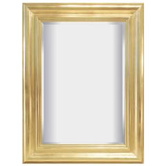 Large Mirror with Frame in Gold Leaf by Karl Springer