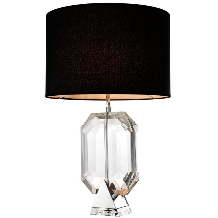 Table Lamp Crystal Nickel Finish