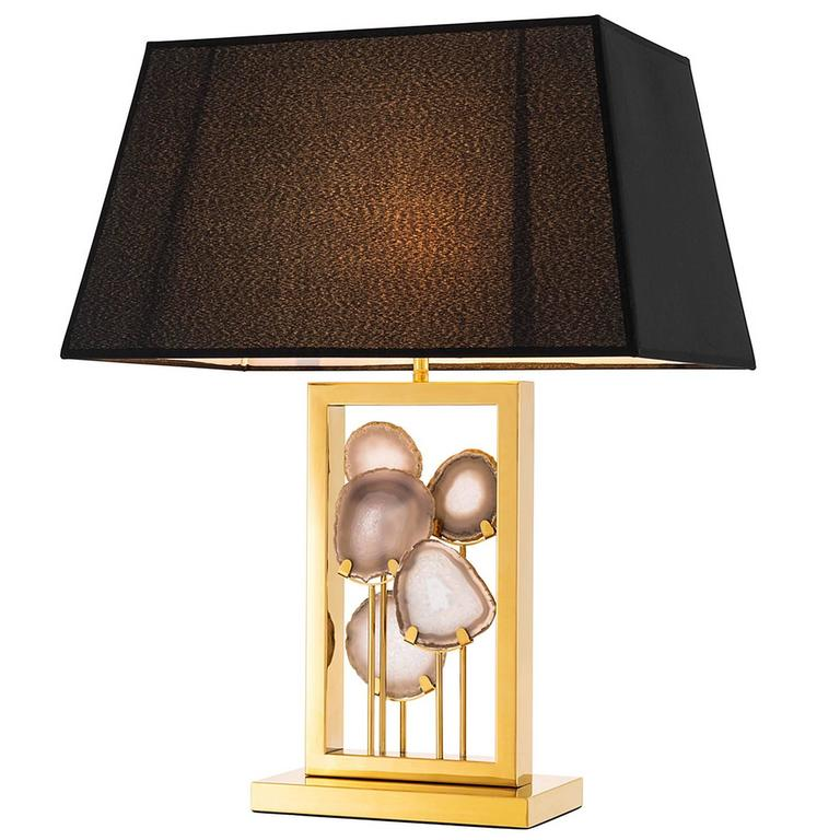 Margo Table Lamp with Agate Stone