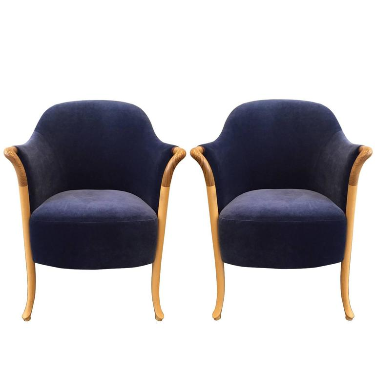 Pair of Giorgetti Progetti Armchairs For Sale