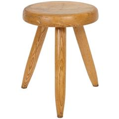 1950s Charlotte Perriand Wooden Stool