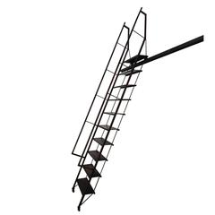 Monumental Custom Steel Rolling Library Ladder
