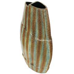 Asymmetrical Snake Skin Wrapped Resin Vase