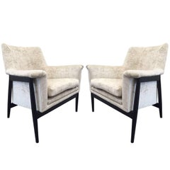 Pair of Danish Modern Lounge Chairs Ib Kofod Larsen
