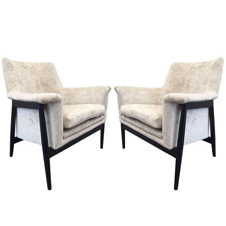 Pair of Danish Modern Lounge Chairs Ib Kofod Larsen