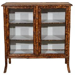 Victorian Bamboo Display Cabinet