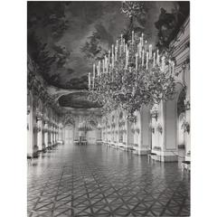 Vintage Photography Print by Lucca Chmel, Interior of Schönbrunn Palace, 1960s