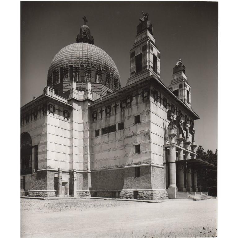 Vintage Photo by Lucca Chmel the Otto Wagner 'Steinhof Church,' Vienna