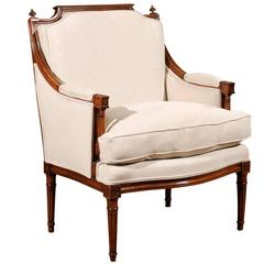 Louis XVI Bergere in Walnut, circa 1780
