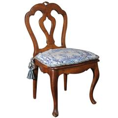 French 19th Century Louis XV Style Child's Chair with Cushion and Cane Seat