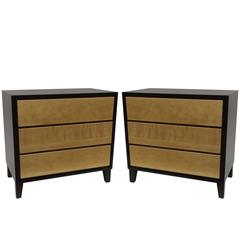 Two-Tone Pair of  Nightstands by Russel Wright