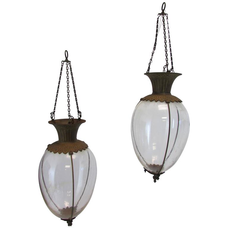 Pair of Drugstore Glass Show Globes