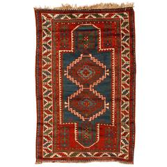 Antique Early 20th Century Caucasian Kazak Rug