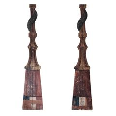 Pair of 19th Century Wooden Panels