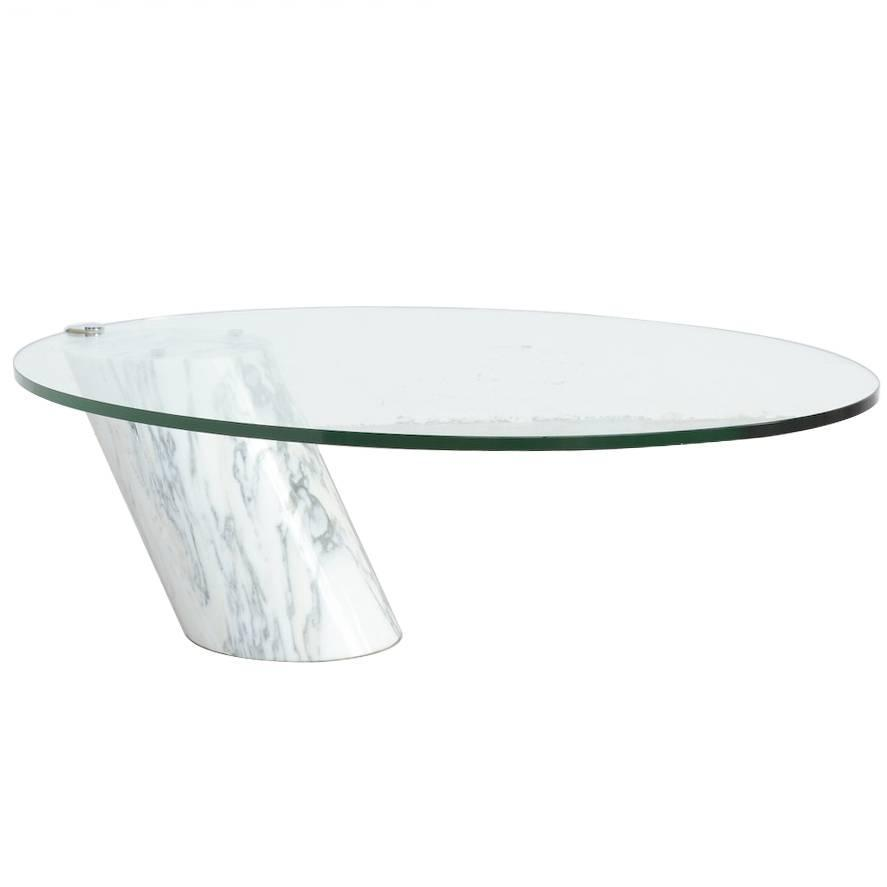 Carrara marble coffee table by team form ag for ronald for Ronald schmitt
