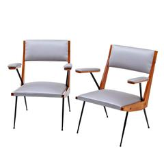 Pair of Armchairs, Mid-20th Century