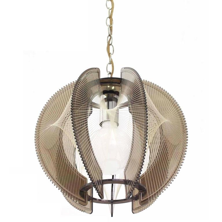 Smoked lucite mid century modern light fixture for sale at for Mid century modern pendant light fixtures