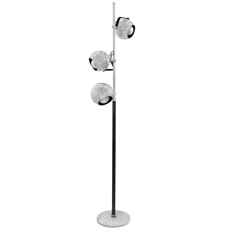 Rare floor lamp with three adjustable chrome spheres by for Lexington floor lamp chrome