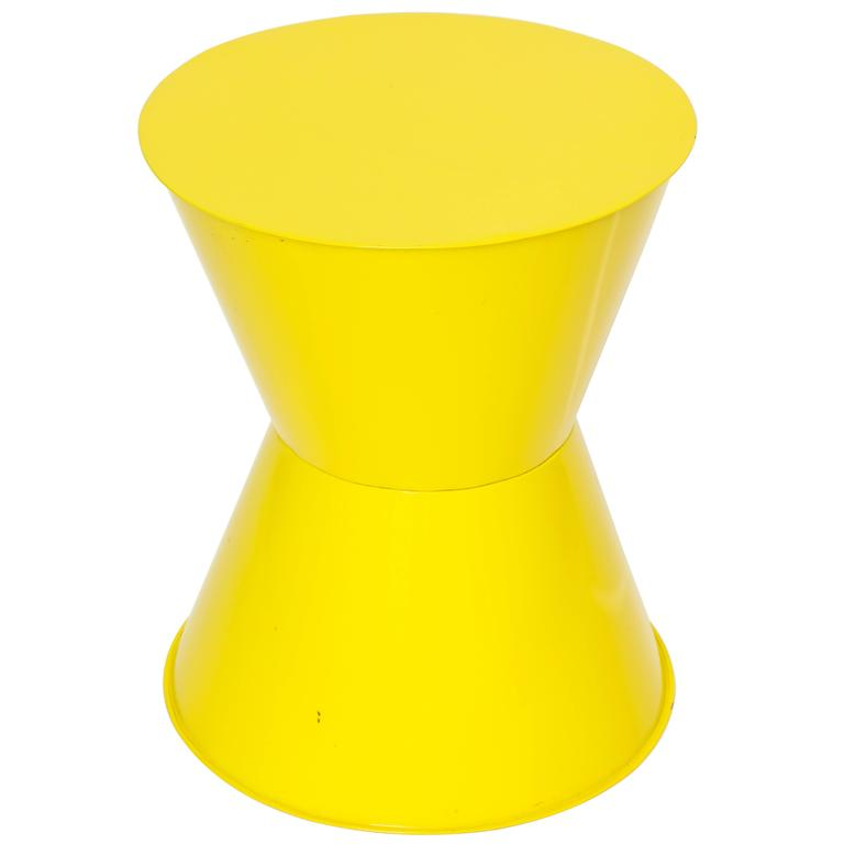 Yellow Lacquered Side Table