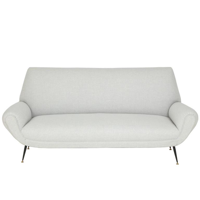 Mid Century Italian Sofa, circa 1950s For Sale