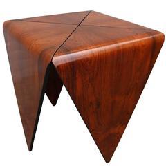 Pair of Brazilian Jacaranda Petalas Side Tables by Jorge Zalszupin
