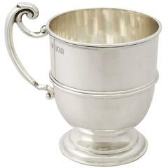 Sterling Silver Christening Mug, Antique George V