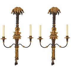 Pair of Italian Two-Light Wall Sconces
