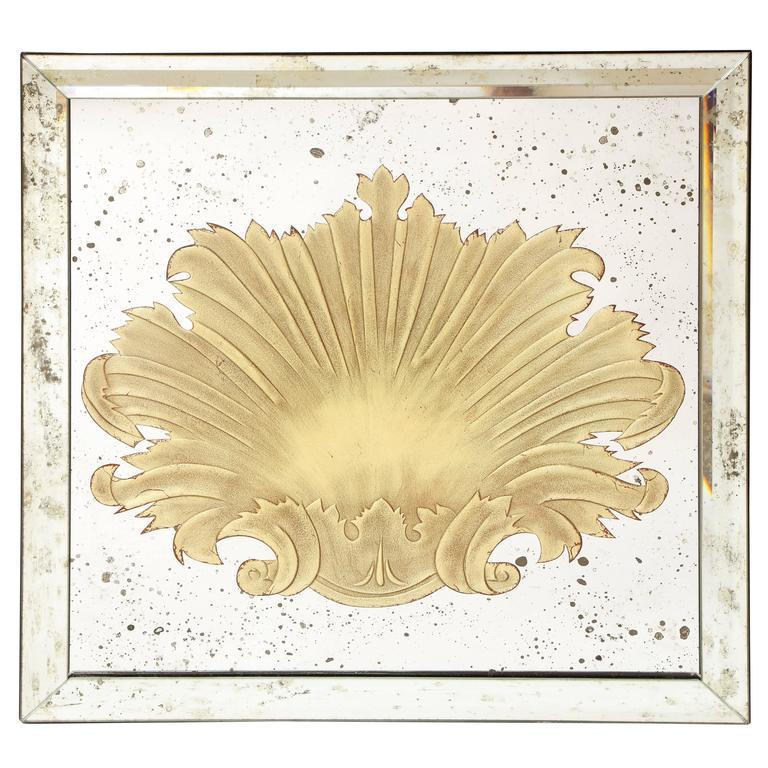 Square Églomisé Mirror For Sale