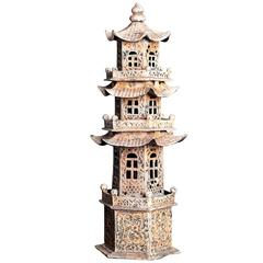 Vintage Metal Pagoda Tower