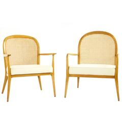 Early Paul McCobb His and Hers Lounge Chairs