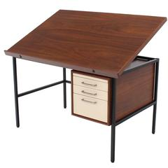 Walnut Lift Top Desk Drafting Table