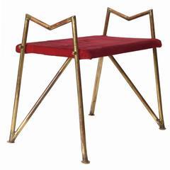 Geometric Brass Bench