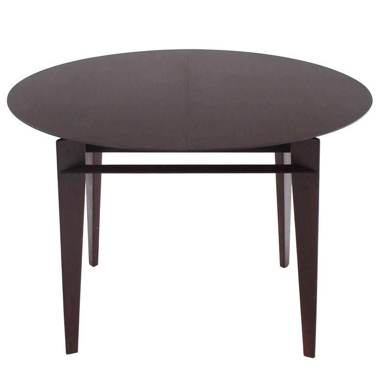 Mid Century Modern Round Dining Table For Sale at 1stdibs : IMG4004orgl from www.1stdibs.com size 768 x 768 jpeg 18kB