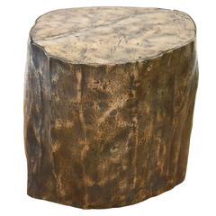 """Limited Edition Bronze Signed and Titled """"The Bronze Oak"""" Sculptural Side Table"""