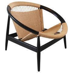 Illum Wikkelsø Easy Chair Ringstol Model 23 for Niels Eilersen, Denmark
