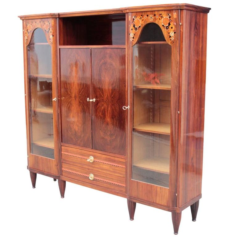 French early art deco vitrine bookcase attributed to for Decoration vitrine
