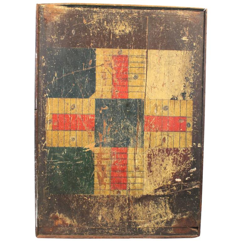 19th Century Folk Art Double Sided Game Board At 1stdibs
