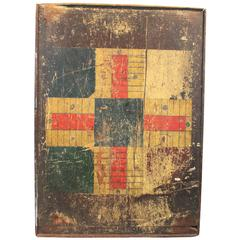 19th Century Folk Art Double-Sided Game Board