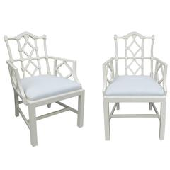 Pair of Mid-Century Chairs in the Style of Francis Elkins