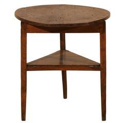 English Vintage Three-Legged Cricket Table