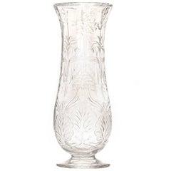 Art Nouveau Rock Crystal Vase by Webb