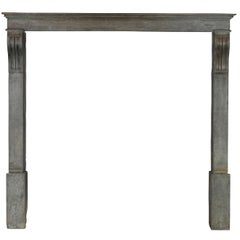 19th Century Original French Country Antique Fireplace Mantle