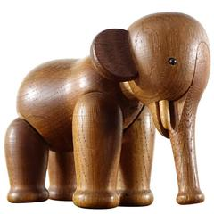 Early Kay Bojesen Oak Elephant from Denmark