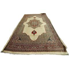 Antique Persian Haji Jalili Carpet, 19th Century