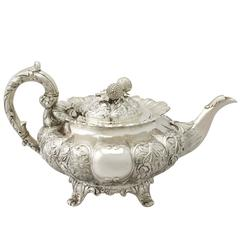 Indian Colonial Silver Teapot, Antique, circa 1850