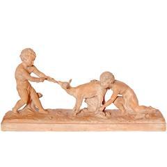 20th Century Ugo Cipriani Terracotta Sculpture