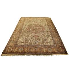 Antique Persian Tabriz Carpet, Mid-19th Century