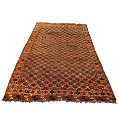 Antique Turkmen Chaudor Carpet, 19th Century